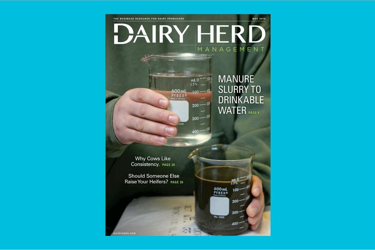 From Manure Slurry to Drinkable Water